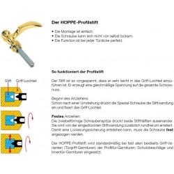 Hoppe Profilstift-Verbindung mit Madenschraube