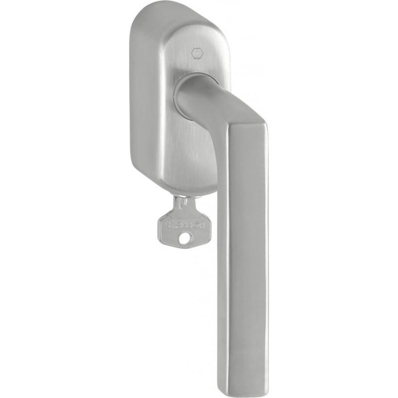 Hoppe Fenstergriff Dallas abschließbar Edelstahl matt Secu100® Secustik® 37 mm