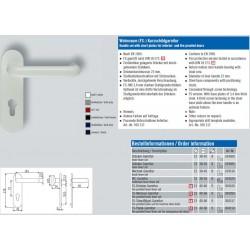 Katalogauszug zur Kurzschild-Tuergriffgarnitur Nylon