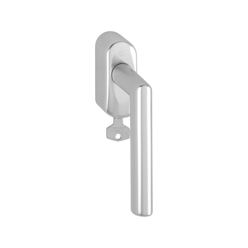 Hoppe Fenstergriff Amsterdam abschließbar Alu natur Secu100® Secustik® 37 mm - 10813591
