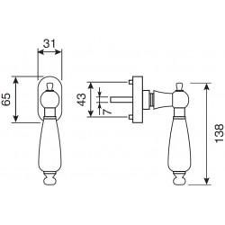 technische Zeichnung mit Abmessungen