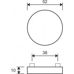 Zeichnung mit Abmessungen Rosette