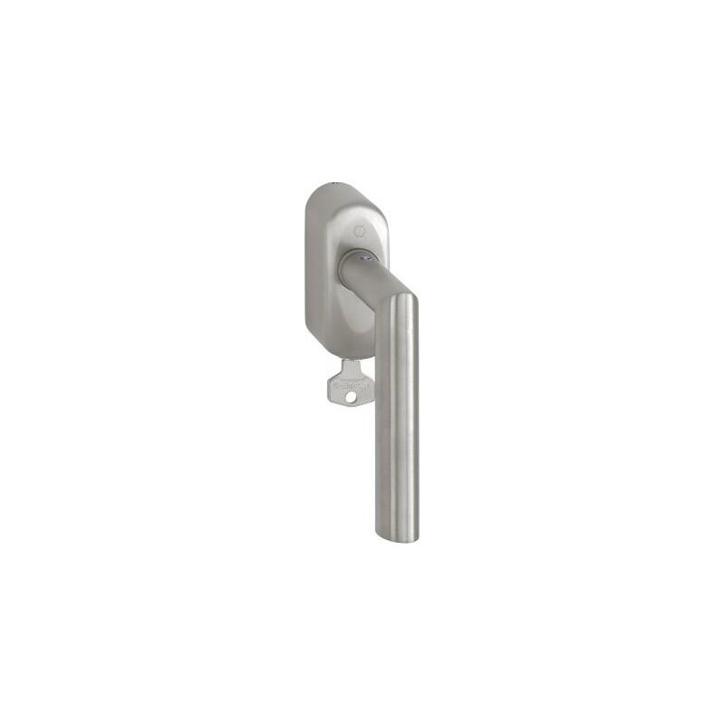 Hoppe Fenstergriff Amsterdam abschließbar Edelstahl matt Secu100® Secustik® 43 mm