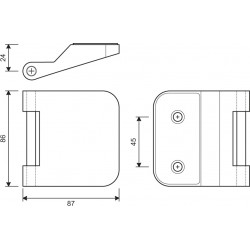Glastuerband Office - technische Zeichnung