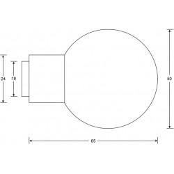 technische Zeichnung mit Abmessungen Kugelknopf