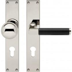 AHB Linea Ebenholz Nickel poliert / Holz Ebenholz - 1051.2270.24.06