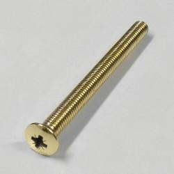 Hoppe Schrauben DIN 966 M6 90 mm Messing poliert