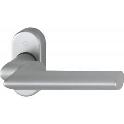 Hoppe Profiltuer-Halbgarnitur Stockholm Rosette Alu Stahl matt 1140GF2/55 8 mm