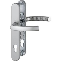 Hoppe Profiltuer-Tuergriffgarnitur Liege 3357N Alu Stahl