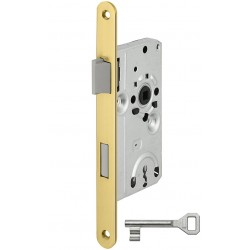 SSF BB-Einsteckschloss Serie 10 Messing poliert DIN links Kunststoff-Falle 20x235 mm rund