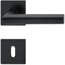 Hoppe Drueckergarnitur Amsterdam Rosette Schnellstift Plus schwarz matt BB