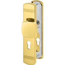 Jatec Schutzbeschlag 354/421 ES3 Ultra Messing poliert Wechselgarnitur 8/72 mm DIN links