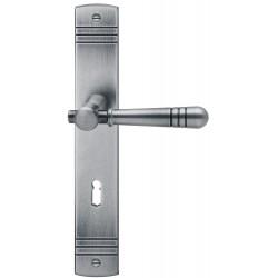 Scheitter Drueckergarnitur 185/235 Langschild Eisen stahlgrau BB
