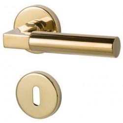Suedmetall Drueckergarnitur Alaska-R Rosette Gold poliert PVD BB