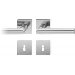 FSB Drueckergarnitur 1076 Rosette ASL® Edelstahl matt BB