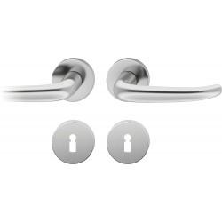 FSB Drueckergarnitur 1023 Rosette ASL® Edelstahl matt BB