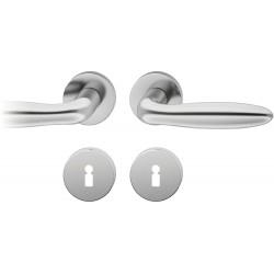 FSB Drueckergarnitur 1176 Rosette ASL® Edelstahl matt BB