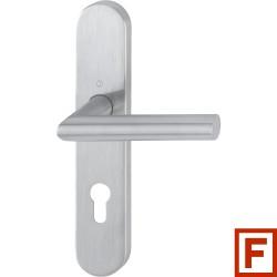 Hoppe Feuerschutz-Drueckergarnitur Amsterdam Langschild Sertos® Edelstahl matt PZ