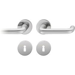FSB Drueckergarnitur 1080 Rosette ASL® Edelstahl matt BB