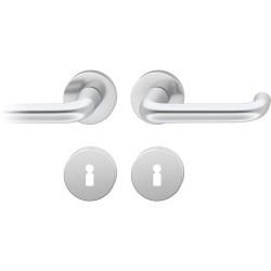 FSB Drueckergarnitur 1080 Rosette ASL® Alu natur BB