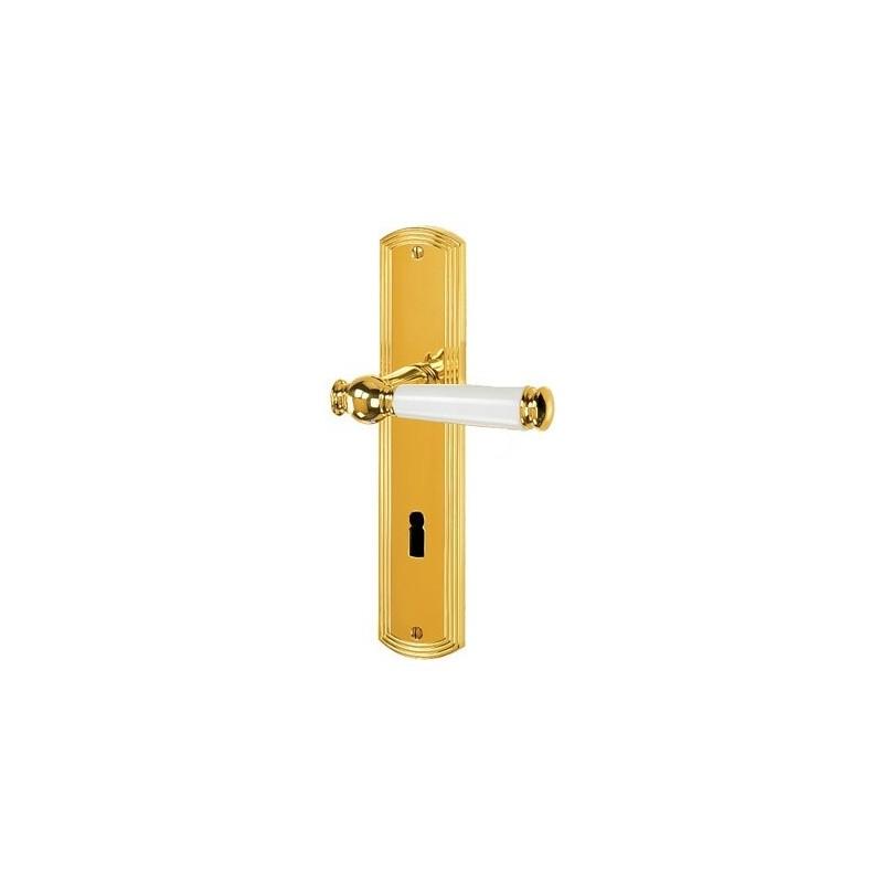 Jatec Sanssouci S 959 Messing poliert / Porzellan weiß - 949.959.100.018