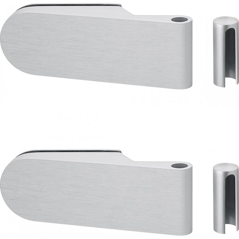 AHB Glastuer-Bandset 6100 Aluminium natur