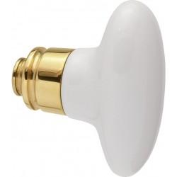 AHB 8066 Messing poliert / Porzellan weiß - 8066.0000.01.87