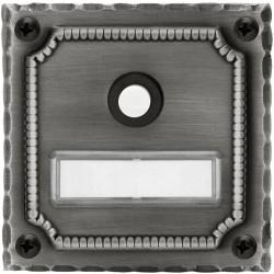 AHB Klingelplatte 6100 Schmiedeeisen verzinkt schwarz berieben