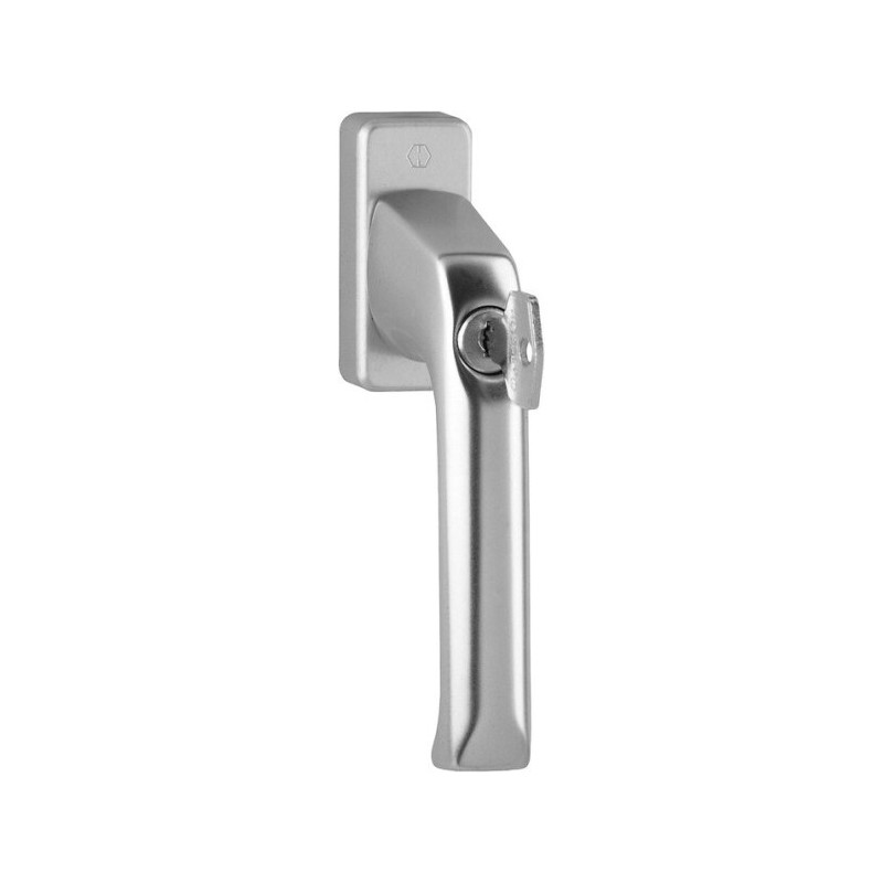 Hoppe Fenstergriff London abschließbar Alu Stahl Secu100® 35 mm