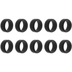 Hoppe Nocken-Aufsteckring Kunststoff schwarz - 524655-Set10