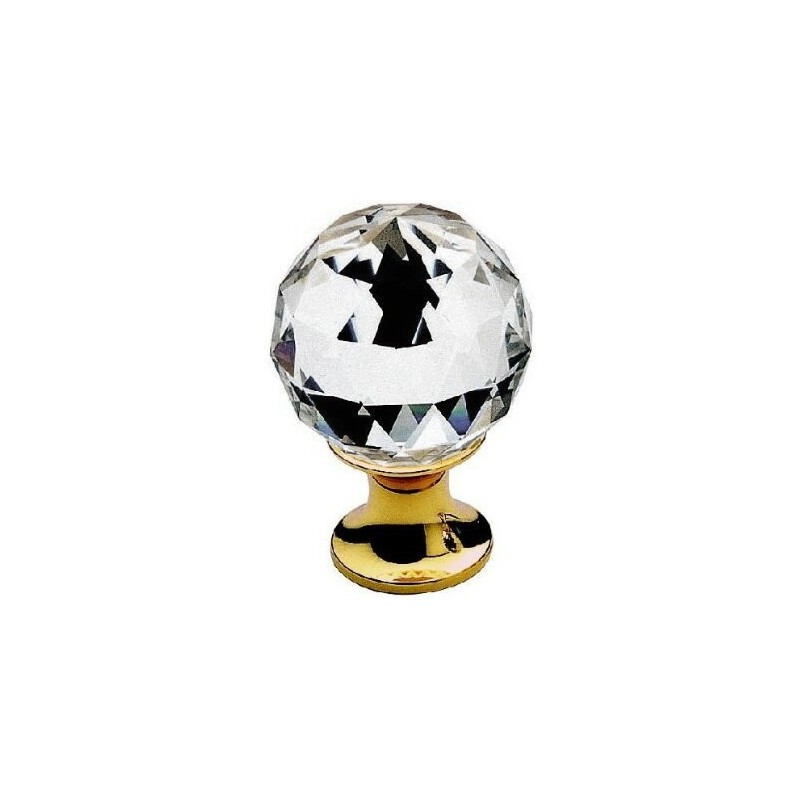 AHB Kristall 9010/1100 Gold poliert / Glas bzw. Kristall klar
