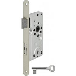 SSF BB-Einsteckschloss Serie 22 silberfarben DIN links Metall-Falle 20x235 mm rund - A2201 01/101G