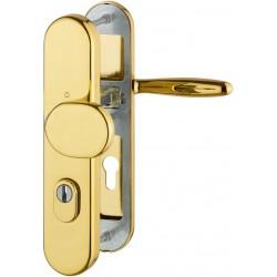 Hoppe Schutzbeschlag Verona ZA ES1 Messing poliert Resista® WE 8/72 mm