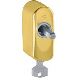 Hoppe Fenstergriff-Rasterung abschließbar US950S Messing poliert PVD 32 mm - 11521995