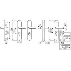 ECO U-Form Edelstahl matt - 71131246