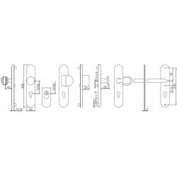 technische Zeichnung mit Abmessungen, bitte Ausfuehrung beachten
