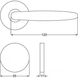 Zeichnung mit Abmessungen