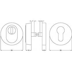 Zeichnung mit Maßen Schutzrosettenpaar SR1