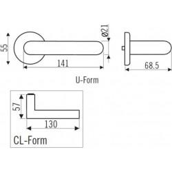 Zeichnung mit Maßen Halbgarnitur U-Form