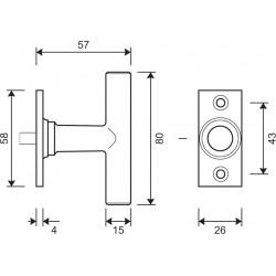 technische Zeichnung Griffteil mit Abmessungen