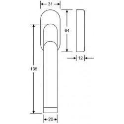 technisiche Zeichnung mit Abmessungen