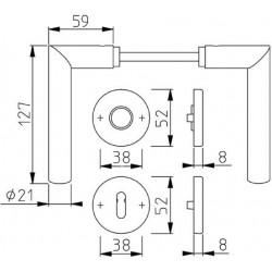 Technische Zeichnung mit Maßen