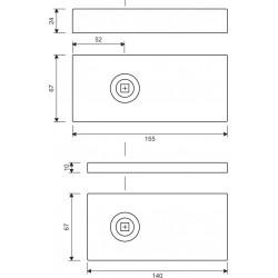 Glastuerschloß Studio - technische Zeichnung