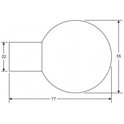 technische Zeichnung des Kugelknopfes